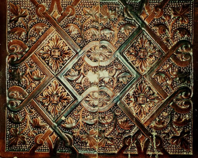 Close-up Pattern Design Full Frame Ceramic Tiles Ceramic Old Heating System Old Heater Old Heating Heating Architectural Feature Ornate Indoors  Heather The Past Intricacy History Rectangle Geometric Shape No People