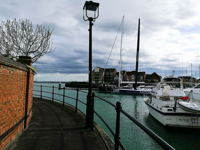 Cloud - Sky Sea Sky Water Nautical Vessel Outdoors Harbor Travel Destinations Street Light Transportation No People Day Moored Nature