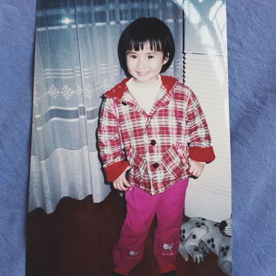 Child Childhood Warm Clothing Winter Looking At Camera Smile Enjoying Life Girl little me💜😃💕👧🏻