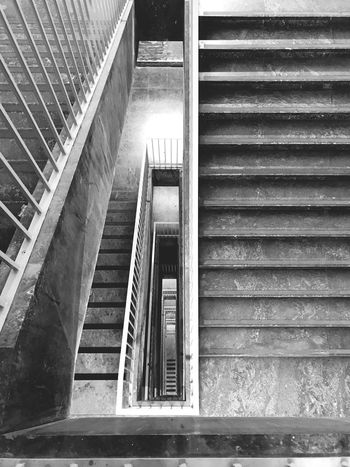 Blackandwhite Photography Blackandwhite Architecturephotography Architectureporn Architecture_bw Architecturelovers Architecture_collection Architectural Column Eye4black&white  Eye4photography  EyeEm Best Shots Berlin Photography Berliner Ansichten Berlin Tempelhof Airport Staircaseporn Staircase Vertigo Staircase Perspective Steps Staircase Steps And Staircases Stairs Architecture Built Structure