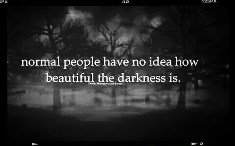 Normal People Scare Me Because Even In Darkness There Is Beauty... Meaningful Quotes