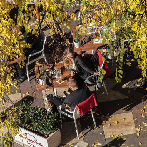 Budapest Diary Budapest High Angle View Real People Sitting Lifestyles Leaf Plant Leisure Activity Tree Outdoors Men Food Day Streetphotography