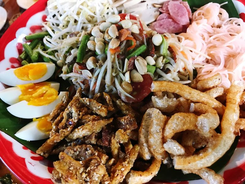Ready-to-eat Food And Drink Food Plate Serving Size Freshness Close-up No People Healthy Eating Indoors  Mexican Food Day Papaya Salad Spicy Thai Food Fish Egg