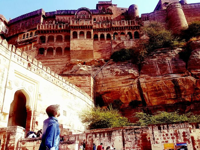 Jodhpur Fort History Ancient Real People Tourism Outdoors Day Sky