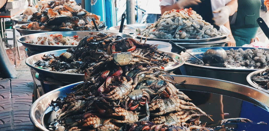 Food Food And Drink Seafood Freshness For Sale Wellbeing Market Incidental People Abundance Fish Healthy Eating Raw Food Crustacean Large Group Of Objects Retail  Market Stall Still Life Animal Vertebrate Day Sale Fish Market Retail Display Fishing Industry