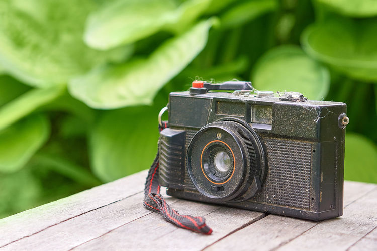 old camera with