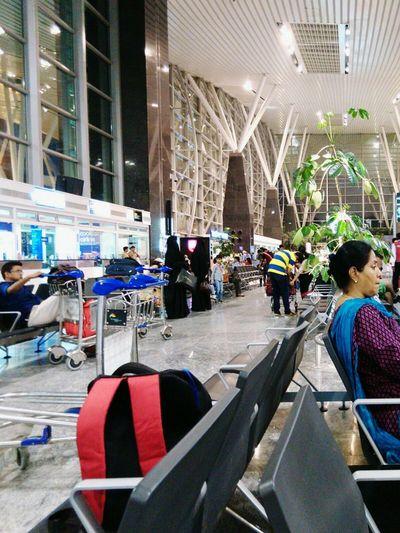 At airport....