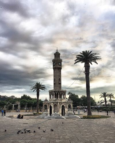 Turkey Izmir Palm Tree Cloud - Sky Sky Tree Architecture Built Structure Travel Destinations Outdoors Day Building Exterior City Nature People