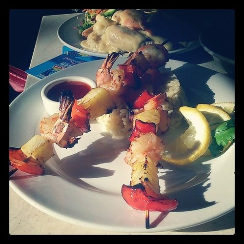 """""""Celebrating"""" our upcoming Rental Move with a Kingprawn meal B-)"""