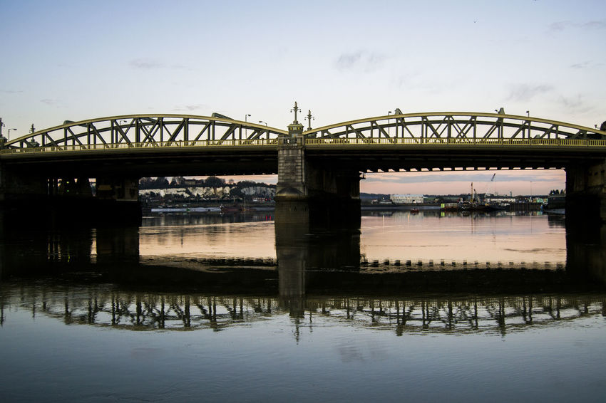 Seige of Rochester Bridge Water_collection Water Reflections Dusk Rows Of Things