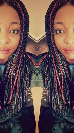 One Person Hiworld Hieyeem JustMe One Woman Only One Young Woman Only Septum Braids SenegaleseTwist Cool Day Blackgirl Barcelona♡♥♡♥♡ Neverforgettosmile