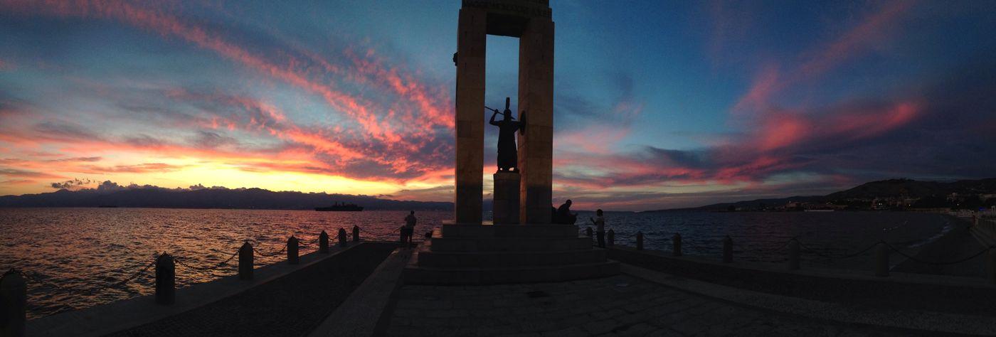 Via Marina Reggio Calabria Italia Sunset Sea