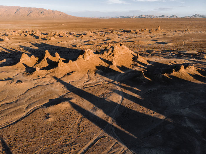 Aerial view of desert.