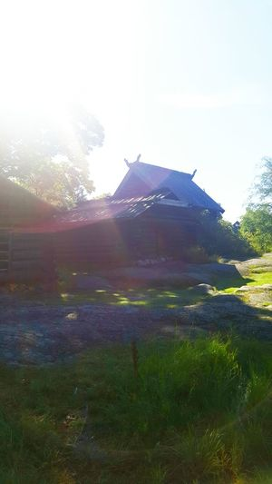Architecture Built Structure Grass Building Exterior Travel Destinations Tranquil Scene Tradition Scenics Tranquility Sunbeam Garden Tourism Famous Place Sky Beauty In Nature Day Nature Lens Flare Culture Outdoors Outdoor Museum Sweden Stockholm Skansen