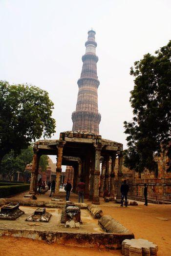 Qutb Minar Architecture Built Structure Sky Building Exterior History Travel Destinations Incidental People