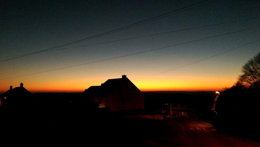 Nightimephotography Sunset Sunset Silhouettes Night Night Lights
