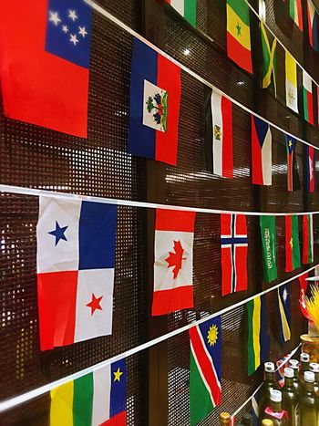 Flag Patriotism No People Full Frame Multi Colored Shape Pattern