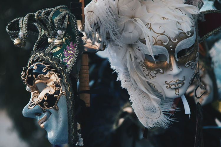 Close-Up Of Masks