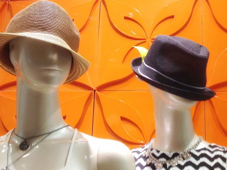 Mannequins in a California , USA store window The OO Mission Mannequins Shop Shopping Store Store Window Hat Hats Female Model Clothes California Two Mannequin Mannequin Model Fashion Style Window Display Window Shopping In The Window Fine Art Photography Fresh On Eyeem  Showcase July Two Is Better Than One