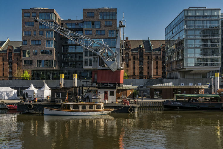 TraditionsHarbour Architecture Boat Building Building Exterior Built Structure Canal City City Life Cityscape Day Hafencity Hamburg Hamburg Harbour Harbor No People Outdoors Residential District Rippled Sky Traditionshafen Water Water Reflections Waterfront