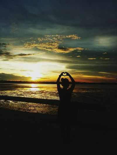 Embrace Sunset Sunset Hearts Silhouette Shadows & Lights Nature Nature Photography Hearts In Nature Sunset in Bogo City , Cebu
