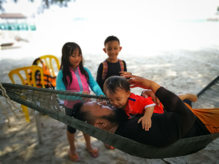 Pulau Redang, Terengganu. Childhood Family Togetherness Group Of People Men Child Males  Bonding Boys Real People Leisure Activity Women Water Females Emotion Happiness Parent Lifestyles Positive Emotion Sister Innocence Daughter Outdoors Son