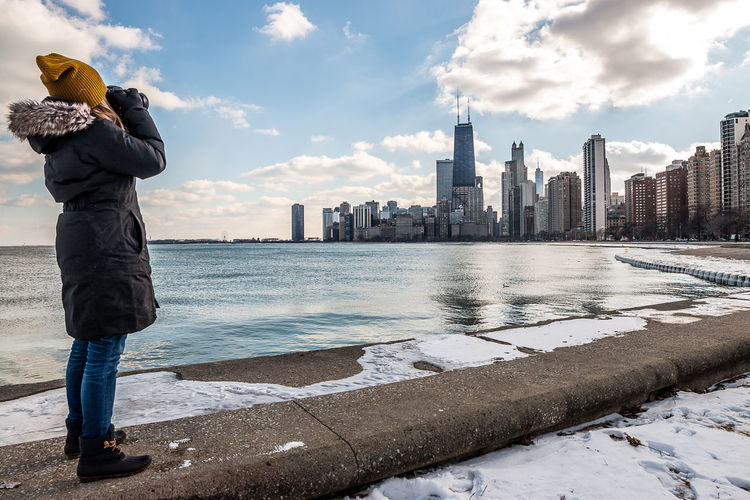 Chicago Winter Streets Architecture Built Structure Chicago Chicago Architecture Chicago Skyline Chicago ♥ City Life Outdoors Photographer Streetphotography Tourism Travel Travel Photography Traveling Vacations Winter