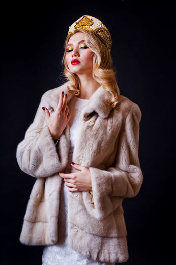Beautiful Woman Beauty Black Background Blond Hair Book Cover Cover Crown Editorial  Editorial Fashion Editorialphotography Magazine Magazine Cover Period Clothes Period Costume Studio Studio Photography Studio Shot