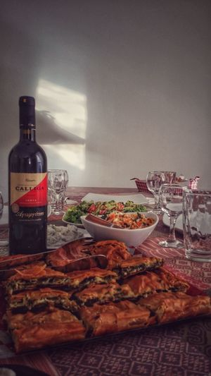 #food Food And Drink Food Foodphotography Pie Festive Table Food And Drink Food Bottle Drink No People Alcohol Wine