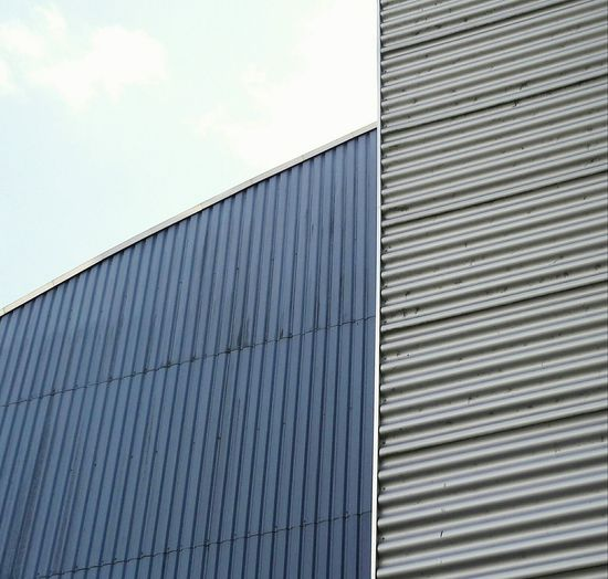 Industrial Building  Architectural Detail Facade Pattern Facadelovers Facade Building Metalic Structure Modern Industrial Area Lines And Patterns Metalwork Urban Architecture Urban Geometry Architecture Patterns Copy Space Built Structure Façade Patterns Everywhere Blue Silver  Metal Metal Construction The Graphic City