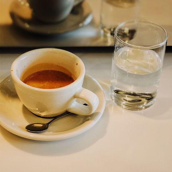 Coffee Espresso Drink Refreshment Food And Drink Coffee Cup Drinking Glass Coffee - Drink Close-up Water No People Indoors