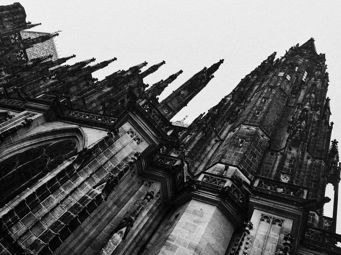 Prague Czech Republic Architecture Belief Building Building Exterior Built Structure City Clear Sky Day Gothic Style History Low Angle View Nature No People Old Outdoors Religion Spirituality The Past