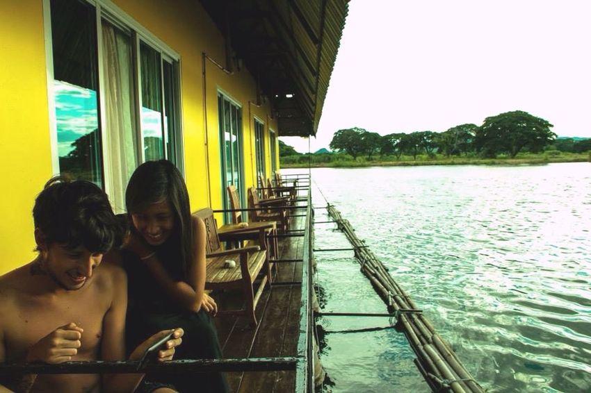 Enjoying Life Relaxing Snapshot Riverside Raft Moments Happy People Love Is To Travel Taking Photos