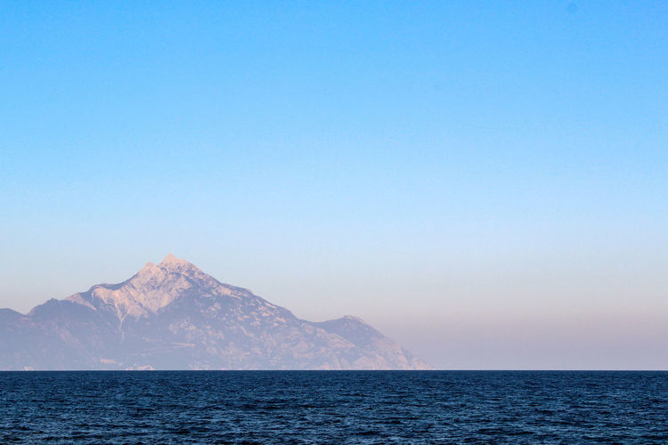 Holy Mountain Athos Mount Athos Greece Mountain Sea Sky Sarti Summer Beach Orthodox Orthodox Religion