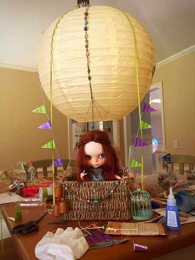 Blythe Blythe Doll Doll Doll Photography Toyography Photography In Motion Photography Themes Miniature Thelittlethings Hot Air Balloon Hotairballoon Hotairballoonride Fantasy Photography Fantasy Journey Into The Sky Arts And Crafts Hobby Hobbyphotography Hobbylobby Adventure Upupandaway Tobecontinued