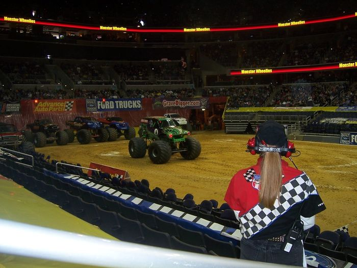 Monster Truck Show Audience Crowd Headwear Hockey Indoors  Monster Trucks Motorsport People Performance Sport Sports Track Stadium