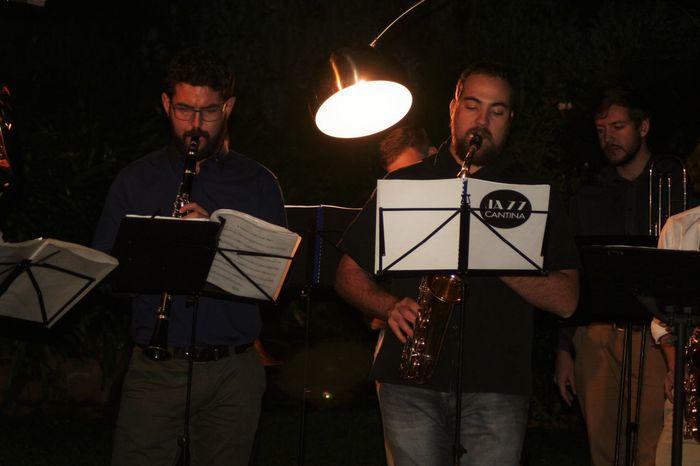 Arts Culture And Entertainment Clarinet Illuminated Jazz Jazz Band Jazzy Leisure Activity Music Is My Life Musicians Night Saxophonist Trombone