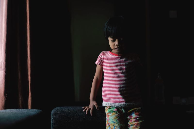 Girl Standing At Home