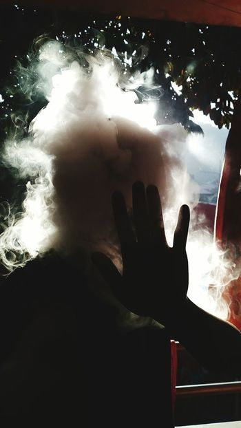 Human Hand Night Human Body Part People Adults Only Indoors  Only Men Adult One Person Males  Smoke Vaporizer  Silhouette Headshot