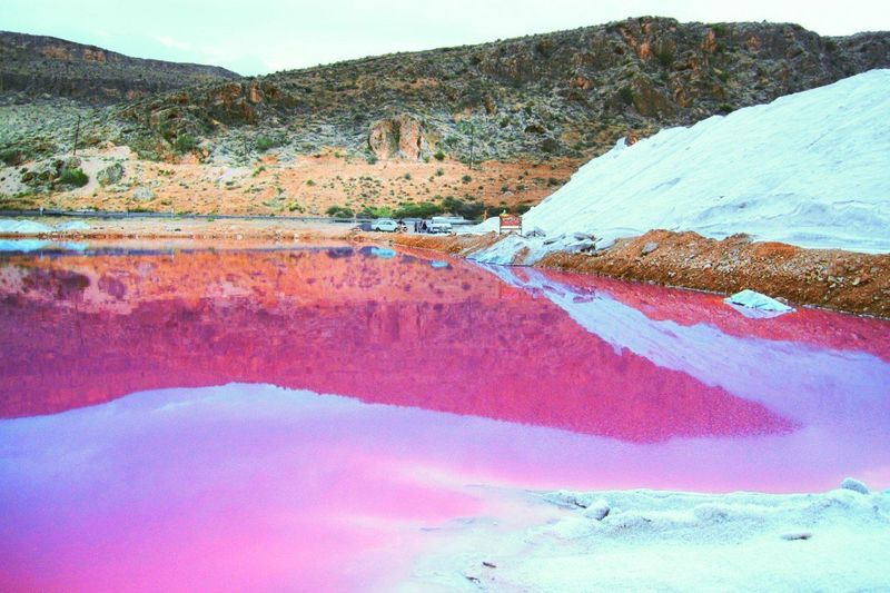 Mountain Nature Scenics Landscape Outdoors Water No People Day Beauty In Nature Tranquility Red Lake Sky Travel Destinations Hot Spring Pink Color Pink Lake Calmness Temptation Morning Glory Reflection Water Reflections Salty Salt Lake Perspectives On Nature