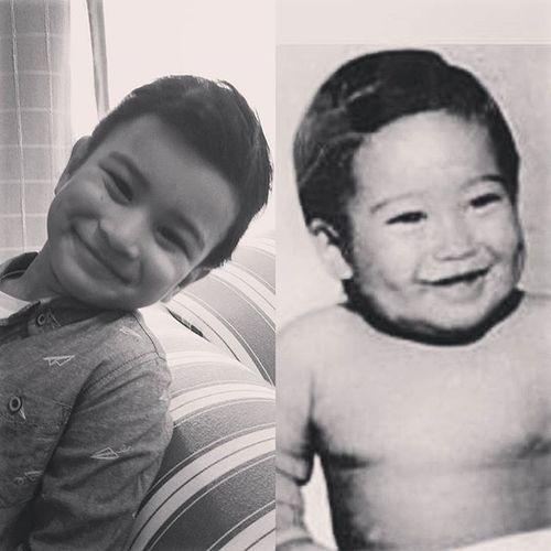 @morris.nadine : Is this close enough for Mario Lopez Jr. (Baby on the right)? Hahaha. 😅😜 Never did occur to me that Max would look like him hehehe! Mariolopezing Mariolopez Lookalikeornot Accordingtonadine Maxstyles Dimples  SmileyEyes Charms Keepingupwithmem