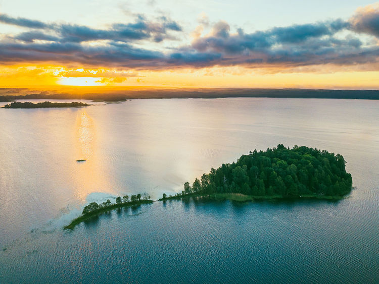 Island Aerial Shot Drone  Lietuva Aerial Aerial View Beauty In Nature Cloud - Sky Drone Photography Europe Idyllic Island Land Mavic Mavic Pro Nature No People Non-urban Scene Orange Color Outdoors Plant Scenics - Nature Sea Sky Sunset Tranquil Scene Tranquility Tree Water Waterfront