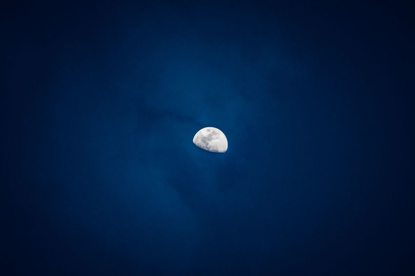 Astronomy Beauty In Nature Half Moon Moon Nature Night No People Outdoors Scenics Sky Space Space Exploration