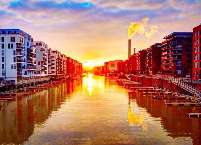 River #landscape #photography #nature Germany Frankfurtt Sunset #sun #clouds #skylovers #sky #nature #beautifulinnature #naturalbeauty #photography #landscape