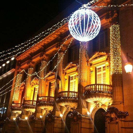 #christmastime #ChristmasLights #Lisboa #Lisbon Center First Eyeem Photo Night Illuminated Building Exterior City Architecture