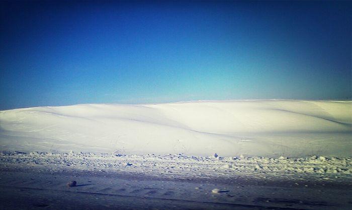 Highway Winter Snow Drifts