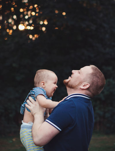 Father with baby