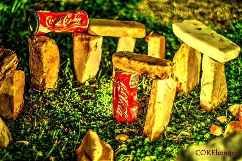 Outdoors Still Life Cocacola Coca-Cola ❤ Coca StillLifePhotography Stone Stoneage Coca Cola