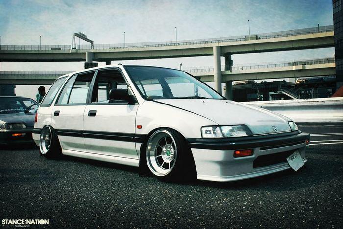 #HisDreamCar #HondaEf #Wagon #OldSchool #HellaFlush #HellaSlammed #StraightFromJapan