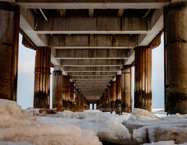 Frozen Hebei Ice Seashore Winter Architecture Beach Beidaihe Built Structure China Cold Temperature Day Nature No People Outdoors Qinhuangdao Sea Seascape Seaside Snow Underneath